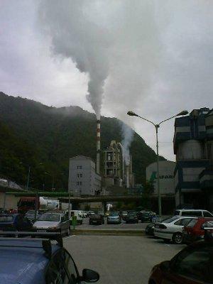 Onesnaževanje cementarne Lafarge Trbovlje, 5. avgust 2010