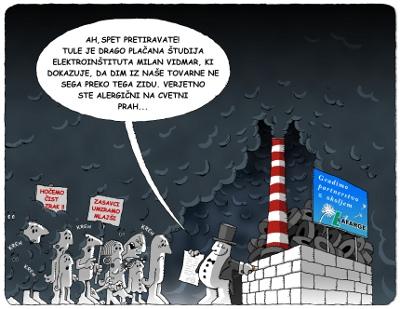 Karikatura vplivnega območja