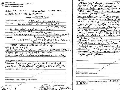 Inšpekcijski zapisnik obiska v Lafarge Cementu dne 10.10.2014